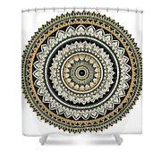 Black And Gold Mandala Shower Curtain