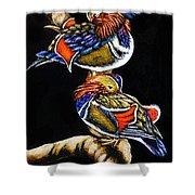 Mandarin Ducks - Sa106 Shower Curtain