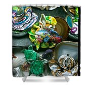 Mandarin Goby Hanging With Emerald Turtles Shower Curtain