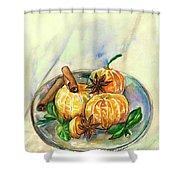 Mandarins Shower Curtain