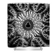 Mandelbrot Fractal Black And White Shower Curtain