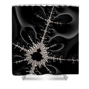 Mandelbrot Set On A Mission Shower Curtain