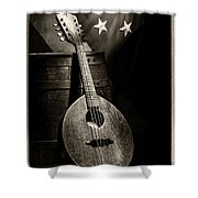 Mandolin America Antique Shower Curtain by Barry C Donovan