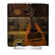 Mandolin And Suitcases Shower Curtain