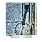 Mandolin Banjo In The Corner Shower Curtain