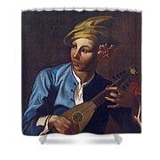 Mandolin Player Shower Curtain