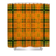 Mandoxocco-wallpaper-orange-green Shower Curtain