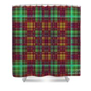 Mandoxocco-wallpaper-red-green Shower Curtain