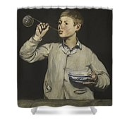 Manet Exhibition Shower Curtain
