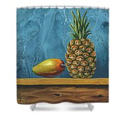 Mango And Pineapple Shower Curtain
