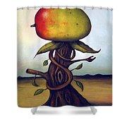 Mango Tree Aka Senor Mango Shower Curtain by Leah Saulnier The Painting Maniac