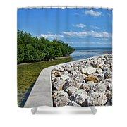 Mangroves Rocks And Ocean Shower Curtain