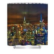 Manhattan At Night 355 Shower Curtain