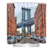 Manhattan Bridge Landscape From Dumbo Shower Curtain