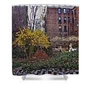 Manhattan Community Garden Shower Curtain