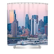 Manhattan Cruise Terminal And Skyline Shower Curtain