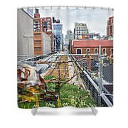 Manhattan High Line Shower Curtain
