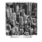 Manhattan In Monochrome. Shower Curtain