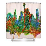 Manhattan Lady Shower Curtain