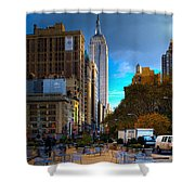 Manhattan Morning Shower Curtain