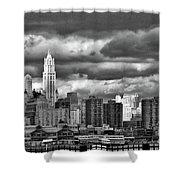 Manhattan Nyc Storm Clouds Cityview Shower Curtain