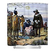 Manhattan Purchase, 1626 Shower Curtain