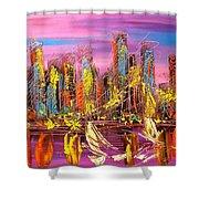 Manhattan Purple By Mark Kazav Shower Curtain