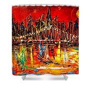 Manhattan Red Shower Curtain