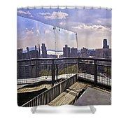 Manhattan Reflections Shower Curtain