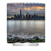 Manhattan Sunrise Shower Curtain