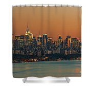 Manhattan Twilight I Shower Curtain