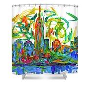 Manhattan Twirl Shower Curtain