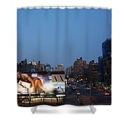 Manhattan View From The High Line Shower Curtain