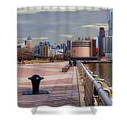 Manhattan West Side Panorama Shower Curtain