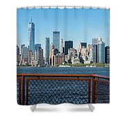 Manhatten Skyline Shower Curtain