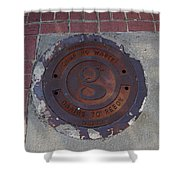 Manhole II Shower Curtain