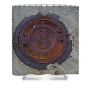 Manhole IIi Shower Curtain