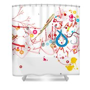 Mania Abstract Shower Curtain