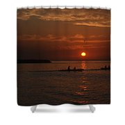 Manila Bay At Dusk. Shower Curtain