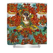 Maning Mahakala With Retinue Shower Curtain