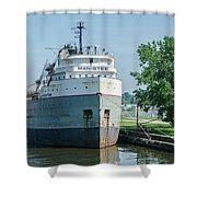 Manistee In Layup At Toledo Shower Curtain