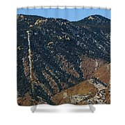 Manitou Incline Photographed From Red Rock Canyon Shower Curtain