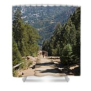 Manitou Springs Pikes Peak Incline Shower Curtain