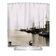 Manitowoc Harbor 1889 Or 1890 Shower Curtain