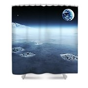 Mankind Exploring Space Shower Curtain