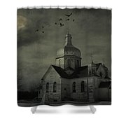 Mannerisms Of Midnight  Shower Curtain by Empty Wall