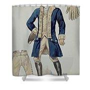 Man's Uniforms Shower Curtain
