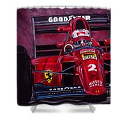 Mansell Ferrari 641 Shower Curtain