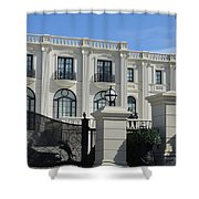Mansion At The Beach Shower Curtain