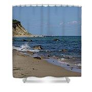 Mansion Beach, Block Island Shower Curtain